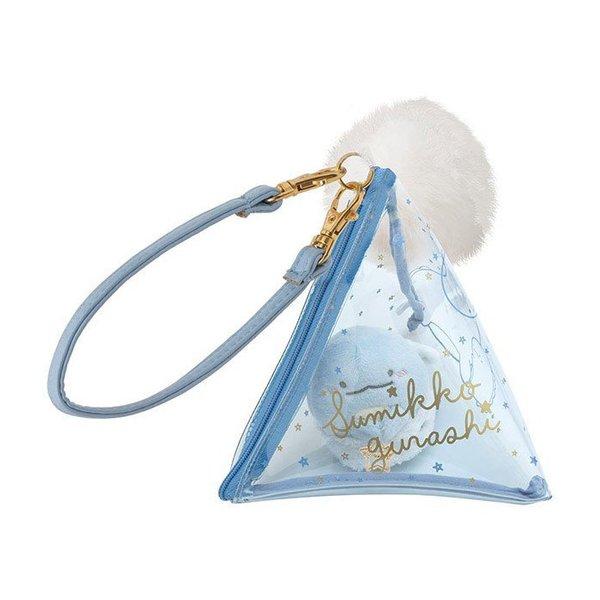 Sumikko gurashi triangle pouch with beanie
