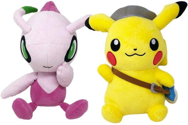 Pokemon shiny celebi and pikachu soft toy