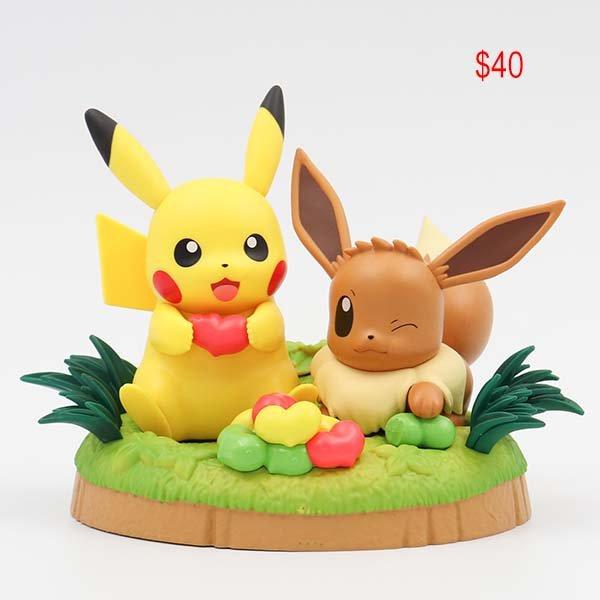 Pokemon Figuring pikachu and eevee
