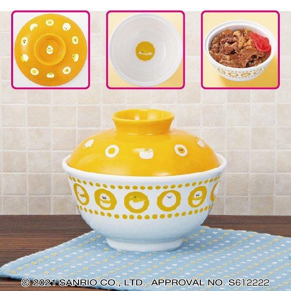 Gudetama ceramic bowl with cover