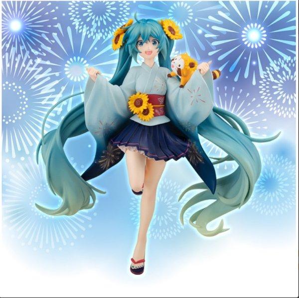 Miku with rascal Sunflower figurine