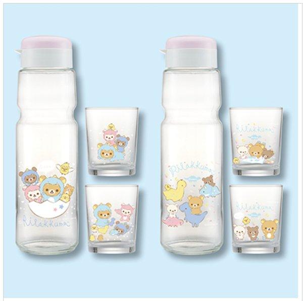 Rilakkuma Glass bottle set