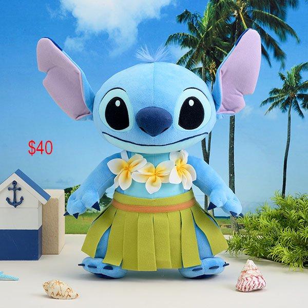 Stitch hawaii style soft toy
